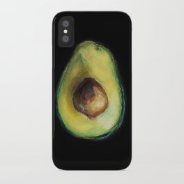 Avocado Painting by Brooke Figer iPhone Case