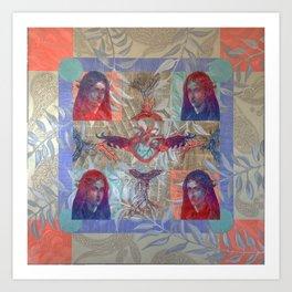 Madona Of The Blue Peacoat Art Print