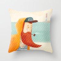 beach Throw Pillows featuring Beach by Seaside Spirit