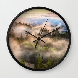 Coastal Fog Over Mount Tamalpais Wall Clock