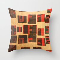 coffe Throw Pillows featuring Coffe - Vintage Drink by Fernando Vieira