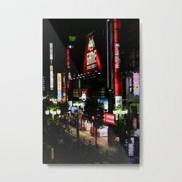 Game Time in Shinjuku Metal Print