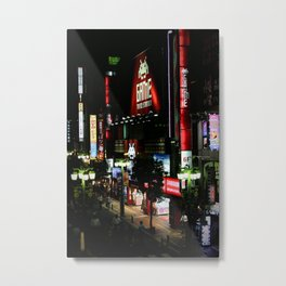 Game Time in Shinjuku Metal Print