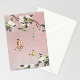 Butterflies and pear blossoms E : Minhwa-Korean traditional/folk art Stationery Cards