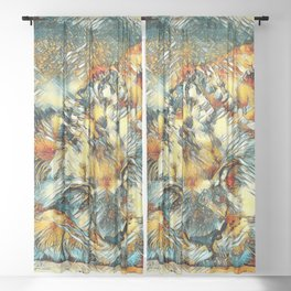 AnimalArt_Lion_20170612_by_JAMColorsSpecial Sheer Curtain