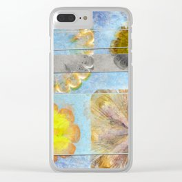 Hurtles Content Flower  ID:16165-095624-24981 Clear iPhone Case