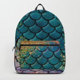 Rainbow Glitter Sparkly Scales Backpack