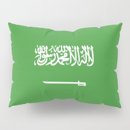 Saudi Arabia flag emblem Pillow Sham