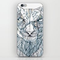 snow leopard iPhone & iPod Skins featuring snow leopard by Eric Tiedt