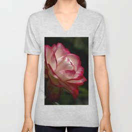 Tranquility with Hope in a Rose Unisex V-Neck