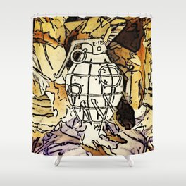 A Pulled Fuse Shower Curtain