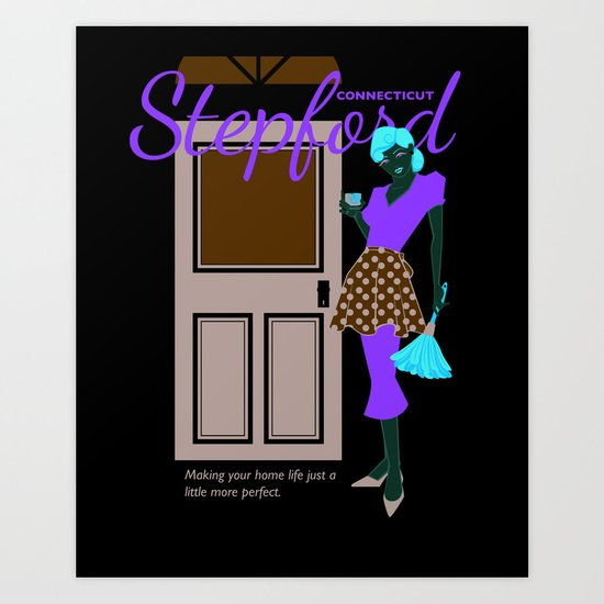 Stepford Connecticut   Art Print