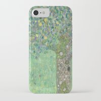 gustav klimt iPhone & iPod Cases featuring Gustav Klimt - Rosebushes under the Trees by TilenHrovatic