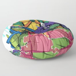 Rise of the new Turtles Floor Pillow