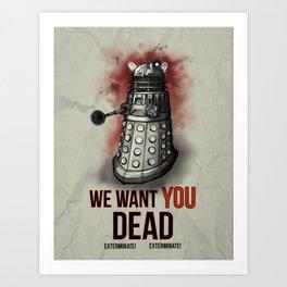 We Want You (No Border) Art Print