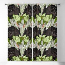 native armadillos green Blackout Curtain