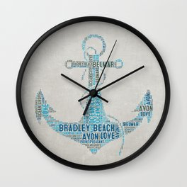 Bradley Beach Wall Clock