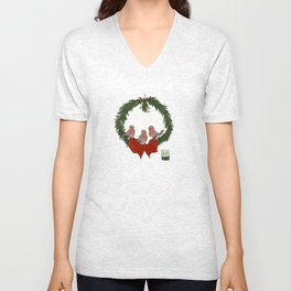 Season's Greetings Unisex V-Neck