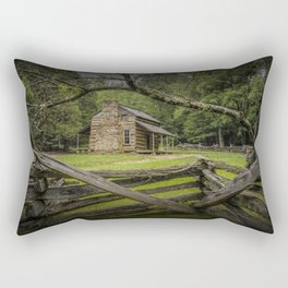 Oliver Log Cabin in Cade's Cove Rectangular Pillow