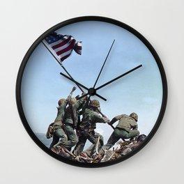Iwo Jima Color Wall Clock