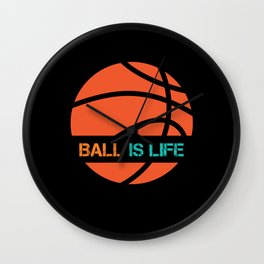Ball Is Life Sports League Team Players Wall Clock