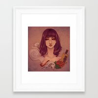 tequila Framed Art Prints featuring Tequila by Tae V