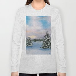 Sunset Winter Snow Long Sleeve T-shirt