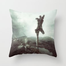 Early morning, goodbye to lost love. Throw Pillow