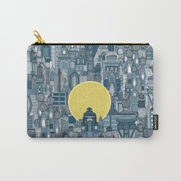 space city sun blue Carry-All Pouch