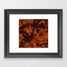 Galaxy in Orange Framed Art Print