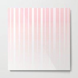 Dissolving Stripes Pattern in Soft Pastel Pink Metal Print