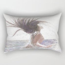 Feeling the Energy of the Sea by OLena Art Rectangular Pillow