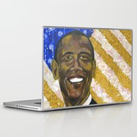 obama Laptop & iPad Skins featuring Obama by Stan Kwong