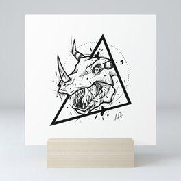 Greymon Handmade Drawing, Made in pencil and ink, Tattoo Sketch, Tattoo Flash, Blackwork Mini Art Print