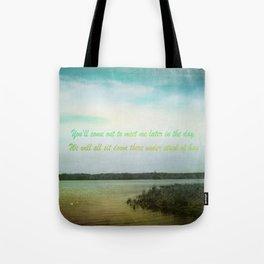 Summer Poem Tote Bag