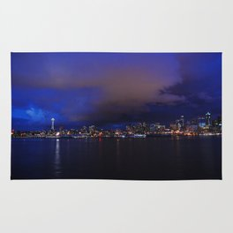 Seattle nightscape Rug