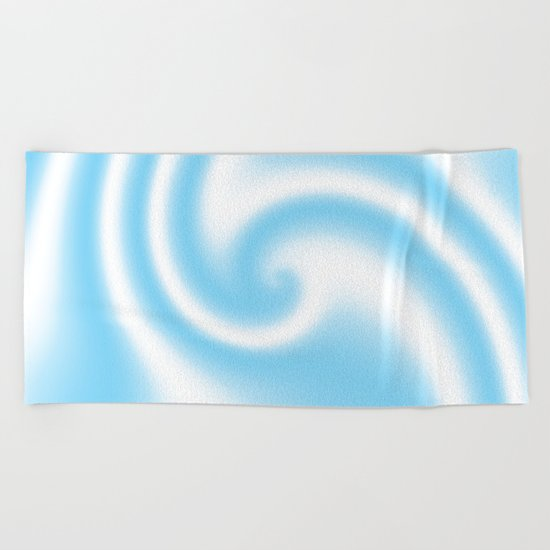 Blue Raspberry Ribbon Candy Fractal Beach Towel