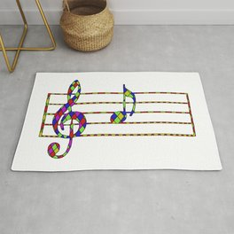'A' Music Note Rug