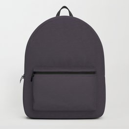 Very Deep Gray-Purple Heather - Solid Block Colors - Autumn / Grey / Concrete Shades / Colours Backpack