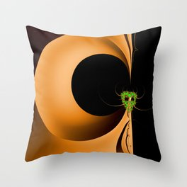 Artistic Halloween with Minimalist Fractal Abstract Mask Throw Pillow