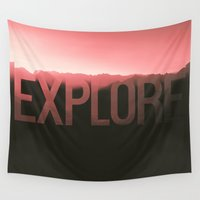 explore Wall Tapestries featuring Explore by Schwebewesen • Romina Lutz
