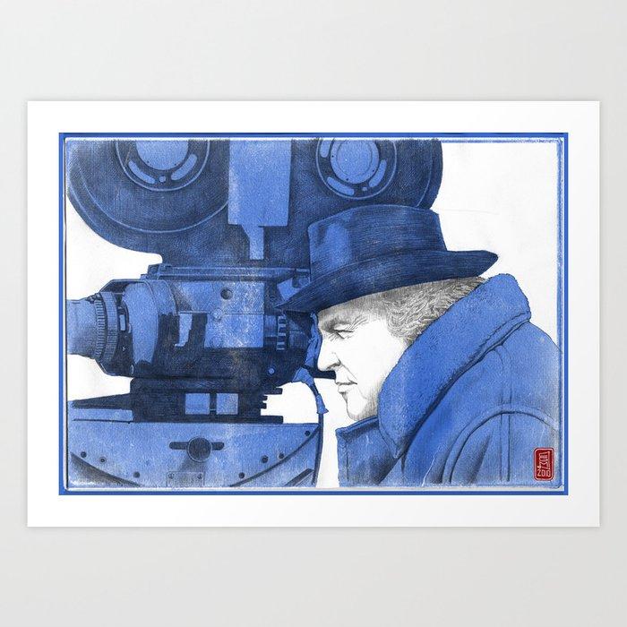 "Fellini ""blue"" Art Print"