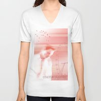 actor V-neck T-shirts featuring Colton Haynes - Actor by Sherazade's Graphics