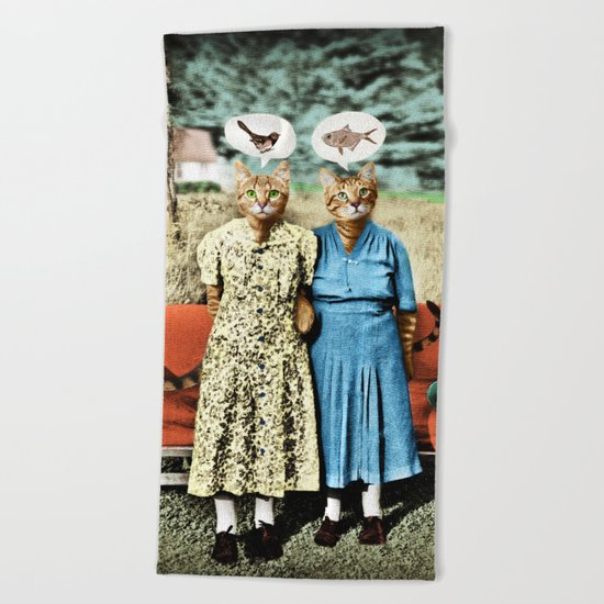 Two Cool Kitties: What's for Lunch? Beach Towel