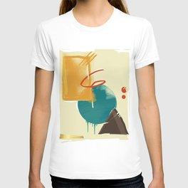 abstract retro pattern T-shirt