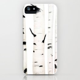 birch  watercolor iPhone Case