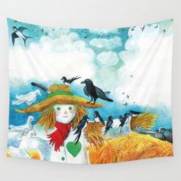 Bird-Friendly Scarecrow Wall Tapestry