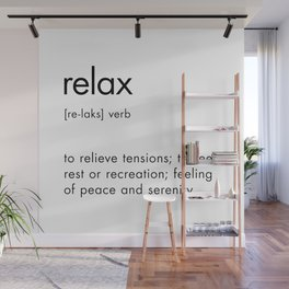 Relax Definition Wall Mural