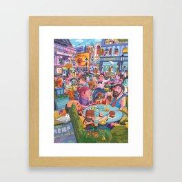 Terace BP soft colors Framed Art Print