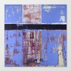 Chagrin Cornflower Blue Abstract Painting Modern Art Canvas Print